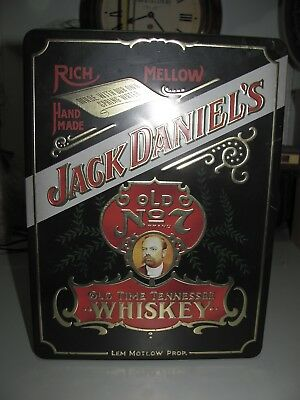 Jack Daniels Old No7 Old Time Tennessee Whiskey Tin Good Condition