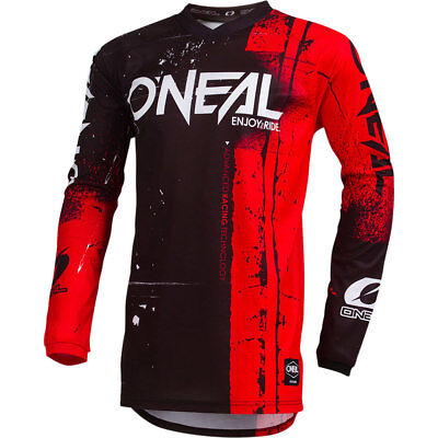 NEW Oneal Mx 2019 Element Shred Red/Black Kids Motocross Dirt Bike Jersey