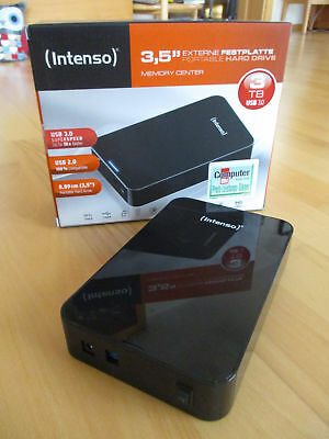 Intenso Memory Center 3TB, Externe Festplatte HDD, 5400RPM, USB 3.0, in OVP