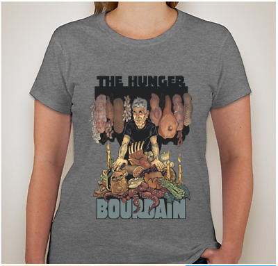Anthony Bourdain 'The HUNGER' Woman's GRAY Large
