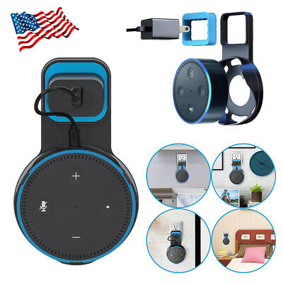 Outlet Wall Mount Holder Bracket Cradle Stand For Amazon Echo Dot 2nd Generation