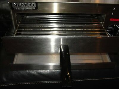 """Nemco Electric Stainless Steel Counter Top Fixed Thermostat 14"""" rack Pizza Oven"""