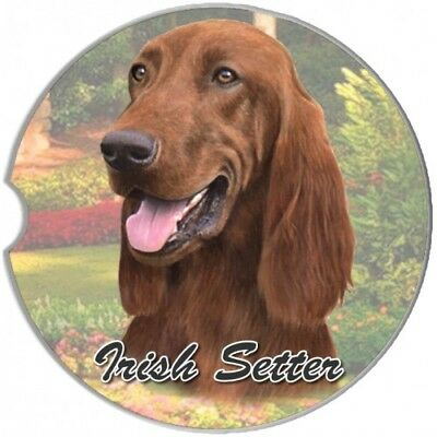 Irish Setter Sandstone Absorbent Dog Breed Car Coaster