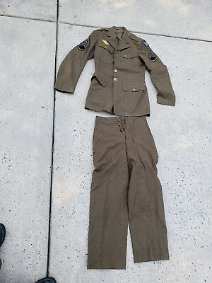 WWII US Army Air Force Corps Uniforms WW2 Staff sergent size 37L