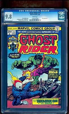 Ghost Rider 11 Cgc 9.8 ** Top Grade Rare White Pages Perfect Centering ** Hulk