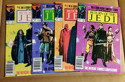 Star Wars Return of the Jedi 1984 #1 #2 #3 #4 Complete Mini Series 9.2 - 9.4