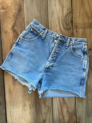 "Wrangler Button Fly Cutoffs 26"" Vintage"