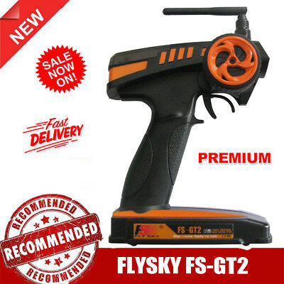 FlySky GT2 2CH 2.4 GHz Radio Remote Control Transmitter and Receiver RC Car Boat