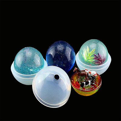 1set 3D Round Ball Silicone mold diy Making Resin Casting Mould Craft ToolFT