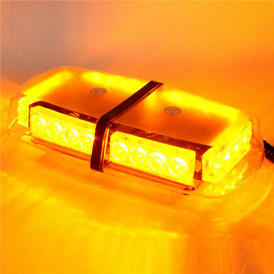 12V 24 LED Car Emergency Beacon Light Bar Strobe Warning Lamp Amber AU STOCK