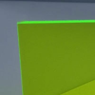 "Green Fluorescent Acrylic Plexiglass sheet 1/8"" x 12"" x 12"" On Sale FREE SHIPPIN"