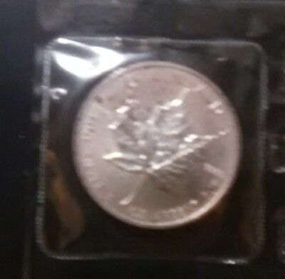 1989 $5 Canadian maple coin naturally toned .9999 silver coin uncirculated