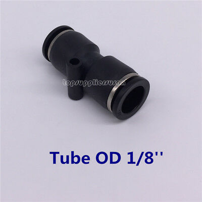 "5pcs Pneumatic Straight Union Tube OD 1/8"" Air Push In To Connect Fitting"
