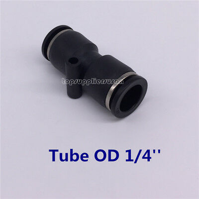 "5pcs Pneumatic Straight Union Tube OD 1/4"" Air Push In To Connect Fitting"