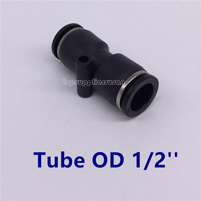 "5pcs Pneumatic Straight Union Tube OD 1/2"" Air Push In To Connect Fitting"