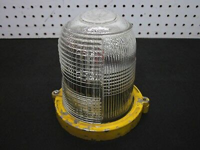 Vintage - Clear Full Globe Lens Airport Runway Taxiway Glass Side Guide Light 32