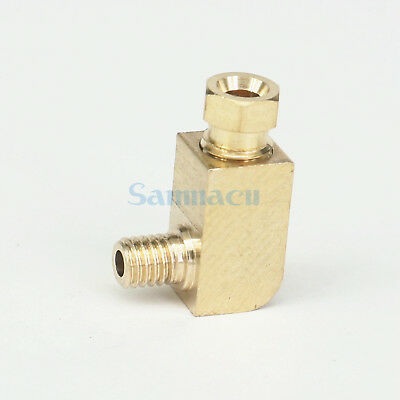 (5) M5-M8 Male x 4/6mm Tube ELbow Connector Fittings Machine Oil Filter Canister