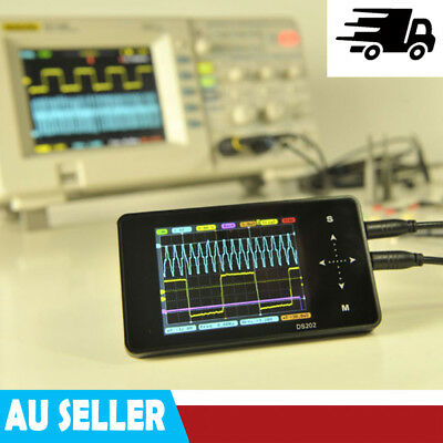 DS202 LCD 2-channel ARM Digital Oscilloscope USB Interface 1MHz 10MSa/s Mini