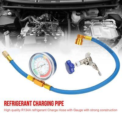 R134A R12 Car Air Conditioning Refrigerant Recharge Measuring Kit Hose Gas Gauge