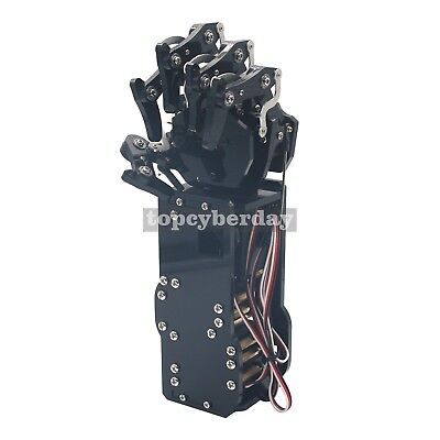 Robot Mechanical Arm Claw Humanoid Left Hand 5 Fingers with Servos for Robotics