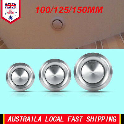 Adjustable Wall Ceiling Stainless Steel Air Vent Round Ventilation Duct Cover AU
