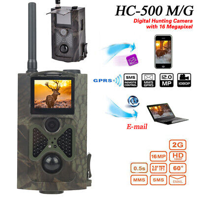 HC-550M HD 16MP 2G MMS SMS SMTP Hunting Infrared Trail Game Camera W/ Battery DY