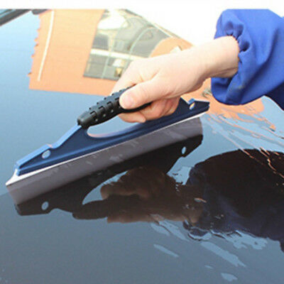 Silicone Auto Car Window Wash Cleaning Brush Cleaner Wiper Squeegee Drying Blue