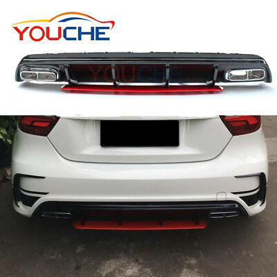 Rear Diffuser & Exhaust Tip for Mercedes A Class W176 A250 or AMG Bumper 2013-18