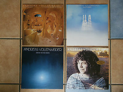 4 LP: Andreas Vollenweider: Caverna Magica,White Winds,Down To The Moon,Pyramid