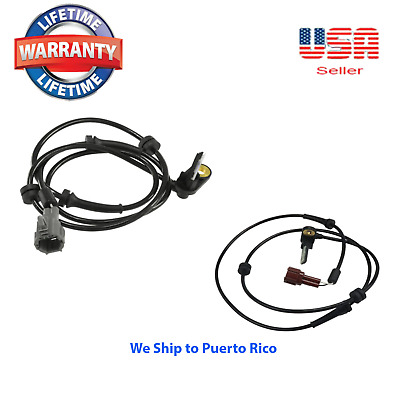 Set of 2 ABS Speed Sensor Rear Right & Left Fits: Nissan Titan 2004-2012 V8 5.6L