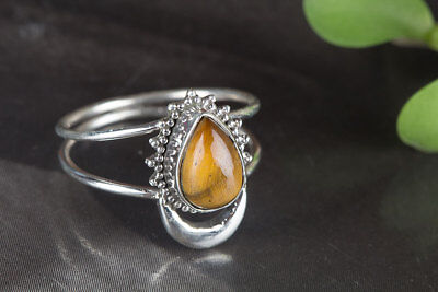 Tiger Eye Ring..925 Sterling Silver..Anniversary Ring..Women Ring..Mermaid Ring