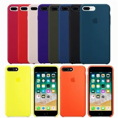 Original Silicone Rubber Protective Mobile Phone Case Cover For iPhone Series
