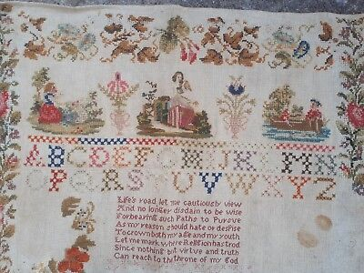 Beautiful  antique  sampler