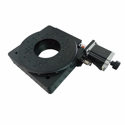Electric Rotating Platform Lab Motorized Rotation Stage Bearing Scale 200mm 55kg