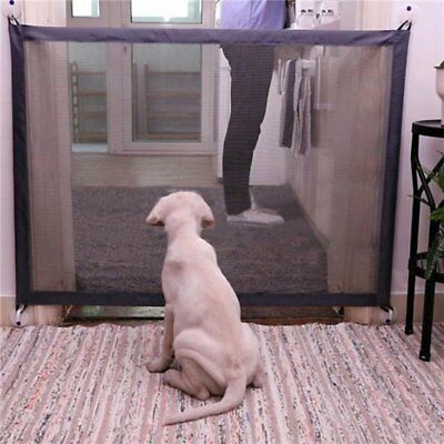 Safe Magic Gate Portable Folding Safety Guard For Pets Dog Cat Isolated Gauze