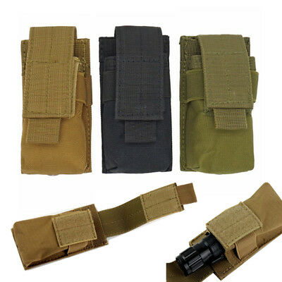 Molle Tactical Single Mag Magazine Pouch Flashlight Bag Open Top Pistol Holder