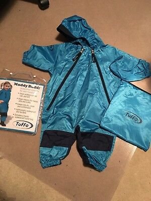 Tuffo Unisex Baby Muddy Buddy Coverall Blue Size 12 Months