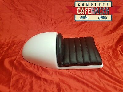 Cafe Racer Seat New & Unused Honda Cr Style In White With Deluxe Black Seat Pad