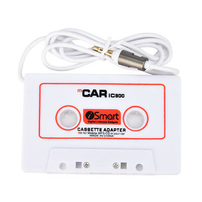 Car Automobile IC800 Cassette Tape 3.5mm AUX Audio Adapter For MP3/MP4 #GD