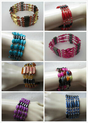 1 x Beautiful Magnetic Bracelet. Various colours and designs.  UK Seller