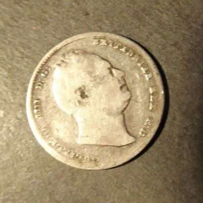 William 4Th Silver Sixpence Dated 1834 Some Wear 2.56 Grams