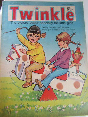Vintage Twinkle Comic Magazine Feb 16th 1974 puzzles not completed issue 317