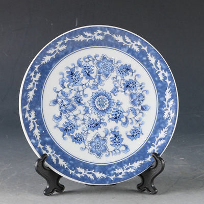 Delicate Chinese Porcelain Handwork Flower Plate