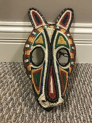 Tribal Woven Basket Dance Animal Head Mask