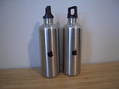 Apple Employee Exclusive h2go Water Bottles - Two 18oz. Stainless Steel Tumblers