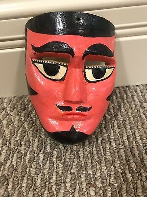 Vintage Wood Dance Carnival Mask