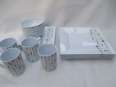 Outdoor Dining Dinner Set Melamine Plates Bowls Cups Camping Picnic BBQ Crockery