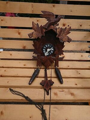 Vintage Black Forest west German cuckoo clock