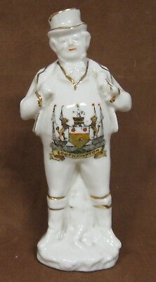 """Crested Ware China Standing John Bull Figure, 4 1/2"""",  Crest of Southampton"""