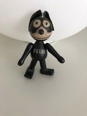 """Vintage FELIX THE CAT 4""""  - Wonderful Condition - Wood / Leather Ears - 1925"""